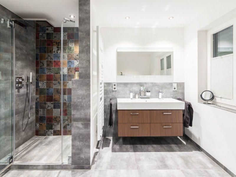 'Fliesen Natusteinoptik Bocholt stonetec badezimmer modern